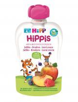 12x HIPP HiPPiS BIO 100% ovoce Jablko-Broskev-Lesní ovoce 100 g – ovocný příkrm