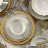 24dílná sada talířů z porcelánu Kutahya Francis