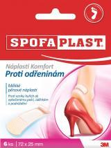 3M Spofaplast 186 Náplasti Komfort proti odřeninám 6 ks