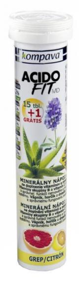 AcidoFit MD grep/citrón tablety šumivé 15   1 zdarma,AcidoFit MD grep/citrón tablety šumivé 15   1 zdarma