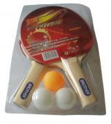 ACRA Sada na stolní tenis 2 pálky 3 míčky set s držákem Brother 1-Star