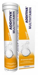 Additiva multivitamin pomeranč šumivé tablety 20 ks,Additiva multivitamin pomeranč šumivé tablety 20 ks