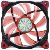 AKASA LED ventilátor Vegas / AK-FN091-RD / 120mm / výška 25mm/ 3pin PWM/ červený