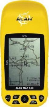 Alan GPS Map 500 žlutá