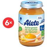 ALETE BIO Příkrm mrkvový s bramborem a kuřecím masem 6× 190 g