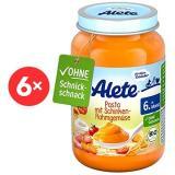 ALETE BIO Příkrm Zeleninový s těstovinami a vepřovou šunkou z kýty a plece 6× 190 g