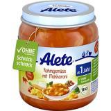 ALETE BIO Zelenina s makaróny a smetanou 6× 250 g