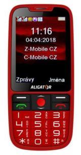 Aligator A890 GPS Senior, červený - zánovní