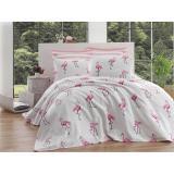 Bavlněný lehký přehoz přes postel na jednolůžko Single Pique Tara, 160 x 235 cm