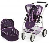 Bayer Chic Kočárek pro panenky EMOTION 2V1 fialová hvězdička