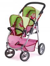 Bayer Design Kočárek Twin Jogger růžová/zelená