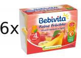 Bebivita 100% Ovoce Jablka S Broskvemi A Banány - 6x