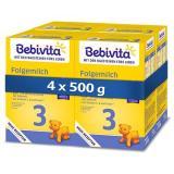 BEBIVITA 3 Pokračovací kojenecká výživa 9m   4× 500 g