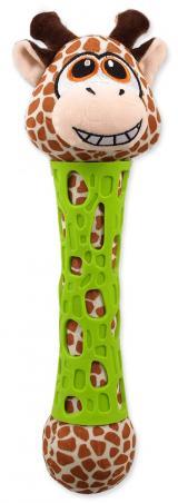 BeFUN hračka TPR plyš žirafa puppy 39 cm