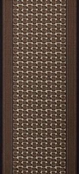 Berfin Dywany Protiskluzový běhoun na míru Zel 1002 Brown - šíře 80 cm s obšitím Hnědá