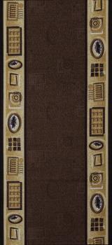 Berfin Dywany Protiskluzový běhoun na míru Zel 1004 Brown - šíře 80 cm s obšitím Hnědá