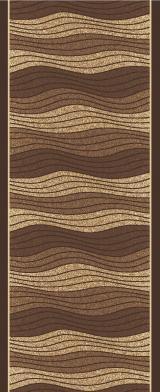 Berfin Dywany Protiskluzový běhoun na míru Zel 1015 Brown - Šíře 57 cm s obšitím Hnědá