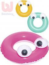 BESTWAY Kruh dětský nafukovací 61cm s očima plavací kolo do vody