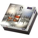 Bohemia Royal Crystal Whisky set 7 ks TRIO