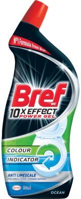 Bref Gelový WC čistič 10x Effect Anti Limescale 700ml