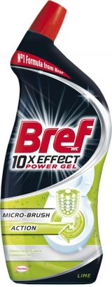Bref Gelový WC čistič 10x Effect MicroBrush 700ml