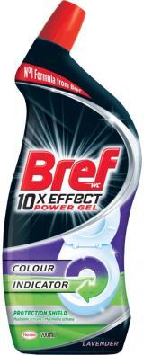 Bref Gelový WC čistič 10x Effect Total Protect Lavender 700ml