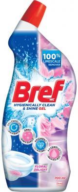 Bref Gelový WC čistič Floral Delight 700ml