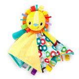 Bright Starts Dečka mazlící s hlavou Cuddlen Tag lev 35x35cm, 0m