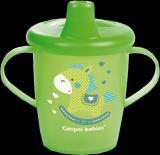 CANPOL BABIES Nevylévací hrníček TOYS – zelený