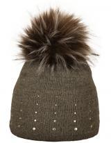 CAPU Zimní čepice 1672-E Dark Grey