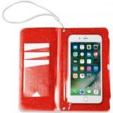 CELLY Splash Wallet voděodolné pouzdro s peněženkou pro telefony 6,2