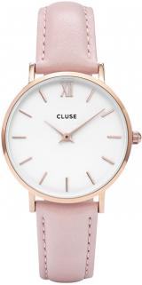 Cluse Minuit Rose Gold White/Pink CL30001