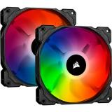 Corsair iCUE SP140 RGB PRO 140mm RGB LED Fan, Dual Pack with Lighting Node Core