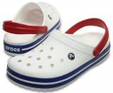 Crocs Pantofle Crocband White/Blue Jean 11016-11I 36-37