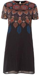 Desigual Dámské šaty Vest Mexican Negro 19WWVW42 2000 42