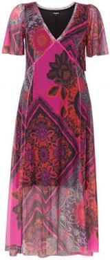 Desigual Dámské šaty Vest Terry Rosa Primula 19WWVK56 3063 L