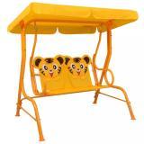Dětská houpací lavice 115x75x110 cm Dekorhome Žlutá