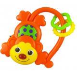 Dětské chrastítko se zvukem Baby Mix Opička oranžová,Dětské chrastítko se zvukem Baby Mix Opička oranžová