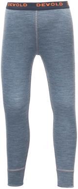 Devold chlapecké kalhoty Breeze Long Johns 116 šedá