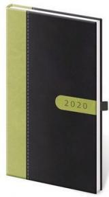 Diář 2020 týdenní kapesní bora černo/zelená
