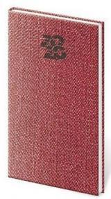 Diář 2020 týdenní kapesní Carpet červená