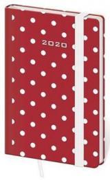 Diář 2020 týdenní kapesní Vario Dots s gumičkou