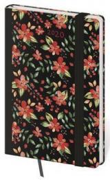 Diář 2020 týdenní kapesní Vario Flowers s gumičkou