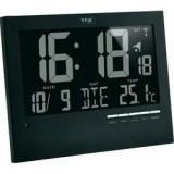 Digitální nástěnné dcf hodiny s podsvícením tfa, 60.4508, 185…