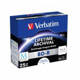 Disk Verbatim Printable BD-R M-Disc 25GB, 4x, jewel box, 5ks