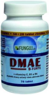 DMAE B-FORTE 70 tablet AKCE 50   20 tablet ZDARMA!