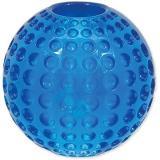 DOG FANTASY hračka strong míček guma s důlky modrá 6,3 cm