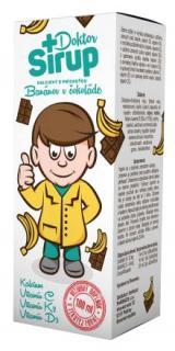 Doktor Sirup kalciový Banány v čokoládě 100ml