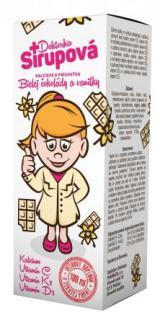 Doktorka Sirupová kalciová Bílá čokoláda vanilka 100ml
