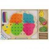 Dřevěná provlékací hračka Baby Mix Ježek,Dřevěná provlékací hračka Baby Mix Ježek